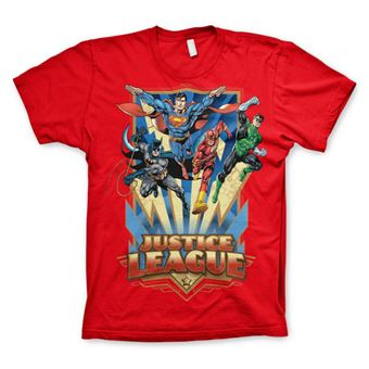 T-shirt Justice League - Team Up! | Vermelho | 3XL