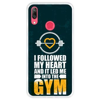 Capa Hapdey para Huawei Y7 2019 - Y7 Prime 2019 Design I Followed my Heart and it Led me to the Gym em Silicone Flexível e TPU