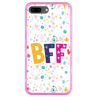 Capa Hapdey para iPhone 7 Plus - 8 Plus Design BFF em Silicone Flexível e TPU Cor-de-Rosa