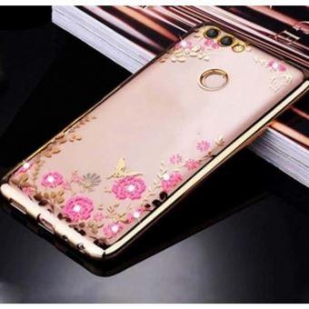Capa Lmobile Diamond para Huawei P Smart Dourado Simples