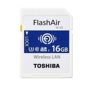 cartão de memória Toshiba FlashAir W-04 16GB SDHC UHS-I Class 3  Azul e Branco