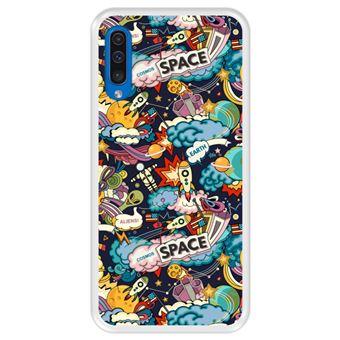 Capa Tpu Hapdey para Samsung Galaxy A50 2019 | Design Padrão de Constelação | Galáxia 5 - Transparente