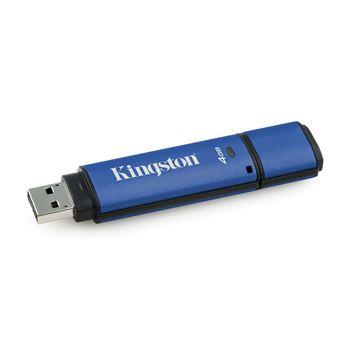Kingston Technology DataTraveler Vault Privacy 3.0 with Management 4GB 4GB USB 3.0 Preto, Azul unidade de memória USB