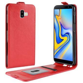 39509077ec8f9 Capa Magunivers PU aleta vertical vermelho para Samsung Galaxy J6 Plus -  Bolsa Telemóvel - Compra na Fnac.pt