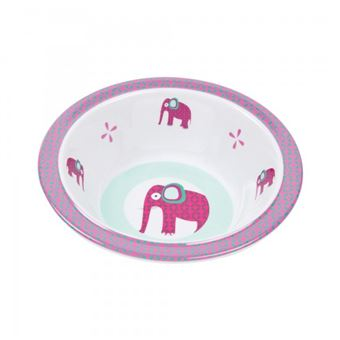 Lässig Dish Bowl Wildlife Elephant Rosa, Branco 12 mês (meses)