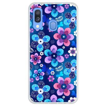Capa Hapdey para Samsung Galaxy A40 2019 Design Padrão Floral de Primavera em Silicone Flexível e TPU