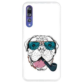 Capa Hapdey para Huawei P20 Pro - P20 Plus Design Cão Bullmastiff Hipster em Silicone Flexível e TPU