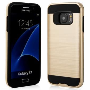 Capa Li-RK Rígida Anti Choque para Samsung Galaxy S7 - Dourado
