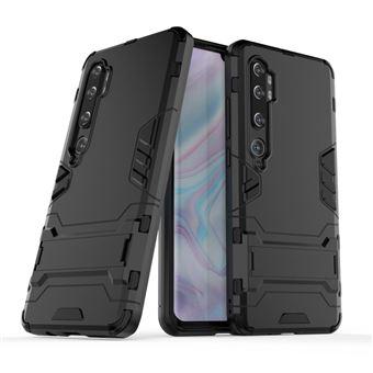 Capa Magunivers para Xiaomi Mi CC9 Pro/Note 10 | TPU | híbrido | Muleta - Preto