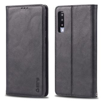 Capa PU estilo retro com titular do cartão preto para Samsung Galaxy A50