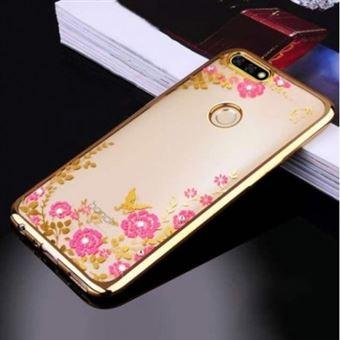 Capa Lmobile Diamond para Huawei Y6 2018 Dourado