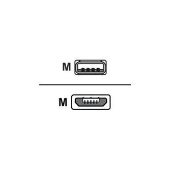 Cabo USB M-Cab 1m, USB2.0 Micro-B/USB2.0-A 1m Micro-USB B USB A Branco