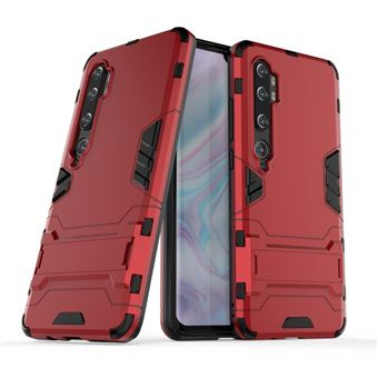 Capa Magunivers para Xiaomi Mi CC9 Pro/Note 10   TPU   híbrido   Muleta - Vermelho