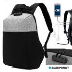 Mochila Blaupunkt com Porta USB e Sistema Anti Roubo