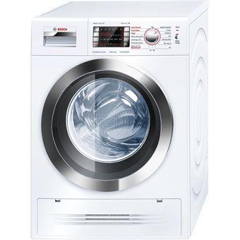 Máquina de Lavar e Secar Roupa Carga Frontal Bosch WVH28470EP 7Kg A Inox, Branco