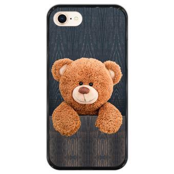 Capa Hapdey para iPhone 7 - 8 Design Urso de Peluche em Silicone Flexível e TPU Preto