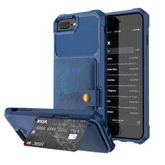 Capa Magunivers PU revestido com folha built-in azul para Apple iPhone 8 Plus/7 Plus/6s Plus/6 Plus 4.7 inch