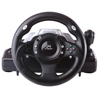 Tracer Drifter Volante + Pedais PC,Playstation 2,Playstation 3 Preto