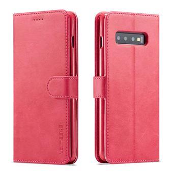 Capa Magunivers PU estande rosa para Samsung Galaxy S10
