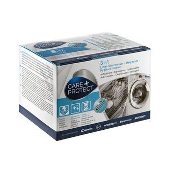 Descalcificante, Desengordurante e Higienizante  CARE + PROTECT máquinas de lavar