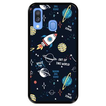 Capa Tpu Hapdey para Samsung Galaxy A40 2019 | Design Padrão de Constelação | Galáxia 3 - Preto