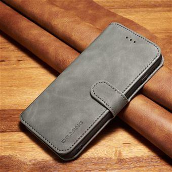 Capa PU estilo retro cinzento para Apple iPhone 8 Plus/7 Plus