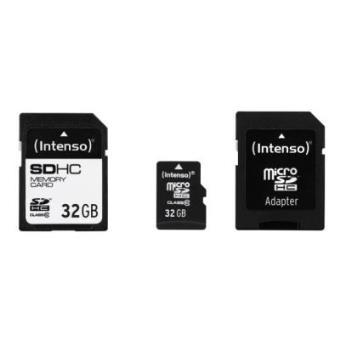 cartão de memória Intenso 3413782 32GB SDHC Class 10  Preto