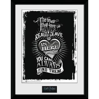 Poster GB Eye Emoldurado Harry Potter Love 40 x 30 Cm