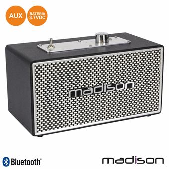 Coluna Bluetooth Vintage Madison 15W Preto