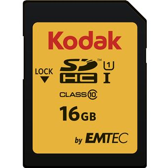 cartão de memória Emtec SDHC 16GB Class10 U1  UHS-I Preto