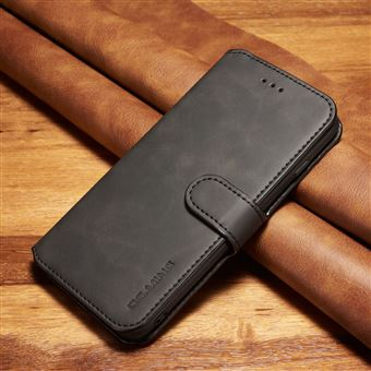 Capa PU estilo retro preto para Apple iPhone 8 Plus/7 Plus