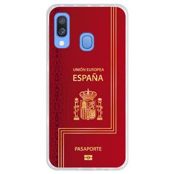 Capa Hapdey para Samsung Galaxy A40 2019 Design Passaporte Espanhol em Silicone Flexível e TPU