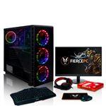 Bundle PC Gaming Fierce EXILE RGB   Rápido 4x4GHz Quad-Core AMD Ryzen 3 3200G   1TB Disco Duro   16GB de 3000MHz DDR4 RAM   AMD Radeon Vega 8 Gráficos Integrados   HDMI, USB3, Wi-Fi   Windows Não Incluído   Teclado (UK/QWERTY) e Rato   Monitor 21.5''   Ga