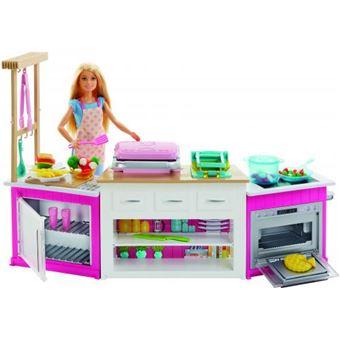 Barbie Mattel Super Cozinha Com Boneca