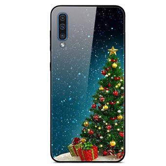 Capa Magunivers | TPU vidro rígido árvore de natal com bola para Samsung Galaxy A50s/A30s/A50