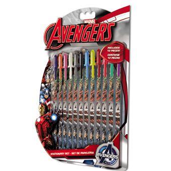 Conjunto 12 Canetas Gel Vingadores Marvel
