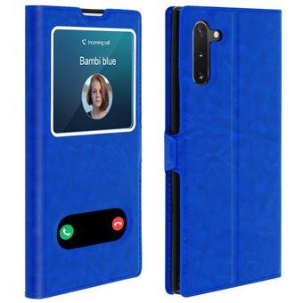Capa de Proteção Avizar para Galaxy Note 10   Proteção   Janela Dupla - Azul