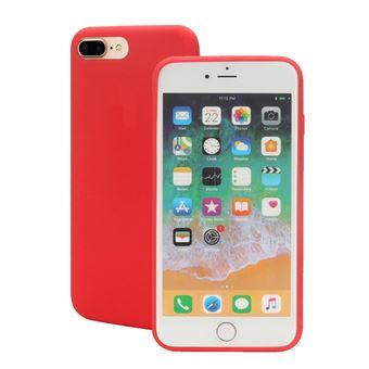 Capa Magunivers silicone borda enrolada suave vermelho para Apple iPhone 8 Plus/7 Plus