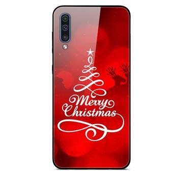 Capa Magunivers | TPU vidro rígido feliz Natal para Samsung Galaxy A50s/A30s/A50