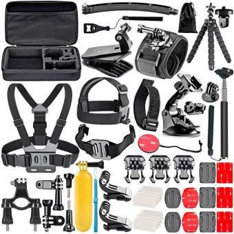 Kit de Acessórios Followsun 52 peças para Câmaras Ação Compatível com GoPro, SJCAM, Rollei, Sony, Etc.