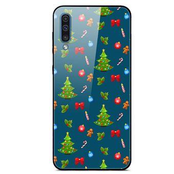 Capa Magunivers | TPU vidro rígido árvore de Natal e homem-biscoito para Samsung Galaxy A50s/A30s/A50