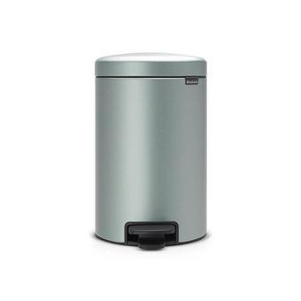 Caixote do Lixo Brabantia 113765 12l Redondo Metálico, Mint colour