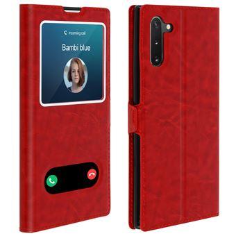 Capa de Proteção Avizar para Galaxy Note 10 | Proteção | Janela Dupla - Vermelho