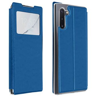 Capa de Proteção Avizar para Galaxy Note 10 Folio | Janela | Suporte Vídeo - Azul