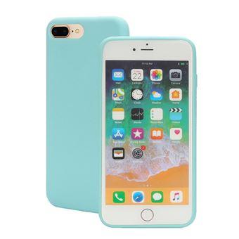 Capa Magunivers silicone borda enrolada ciano para Apple iPhone 8 Plus/7 Plus