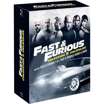 Fast & Furious 1-8 + Hobbs & Shaw (9Blu-ray)