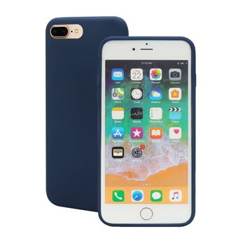 Capa Magunivers silicone borda enrolada suave azul escuro para Apple iPhone 8 Plus/7 Plus