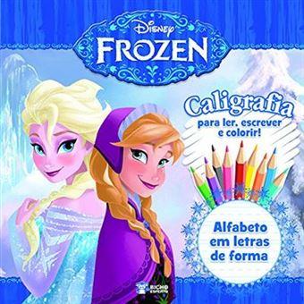 Caligrafia. Alfabeto Em Letras De Forma - Coleção Disney Frozen