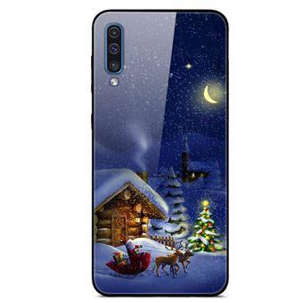 Capa Magunivers | TPU vidro rígido papai noel e casa para Samsung Galaxy A50s/A30s/A50