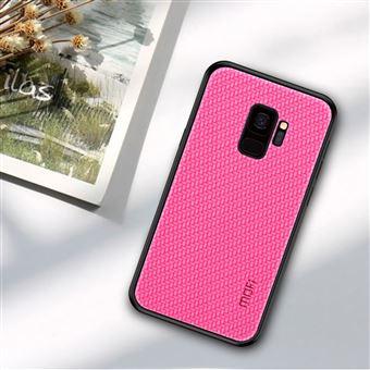 Capa PU Magunivers tecido revestido rosa para Samsung Galaxy S9 SM-G960